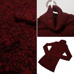 Beechers Brook Cozy 100% Cotton Turtle Neck Red Sweater